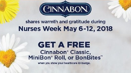 Cinnabon® Gives a Sweet 'Thank You' to Nurses